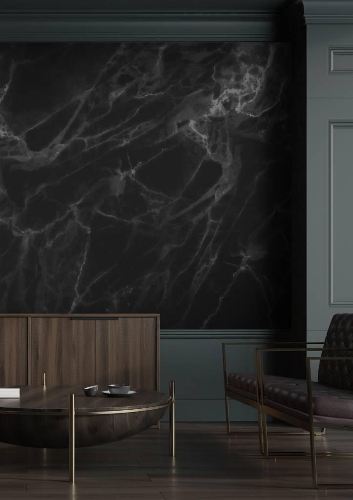 KEK Amsterdam Marmer behang zwart grijs  LIVING AND CO