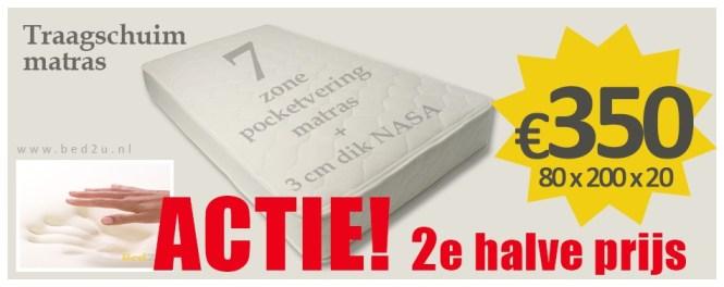 Bed2u 80 X 200 Cm 3 Top Quality Memory Foam Mattress 7 Zone Pocket Spring