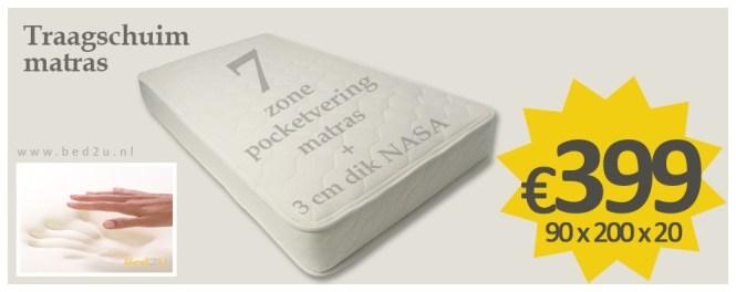 Bed2u 90 X 200 Cm 3 Top Quality Memory Foam Mattress 7 Zone Pocket Spring