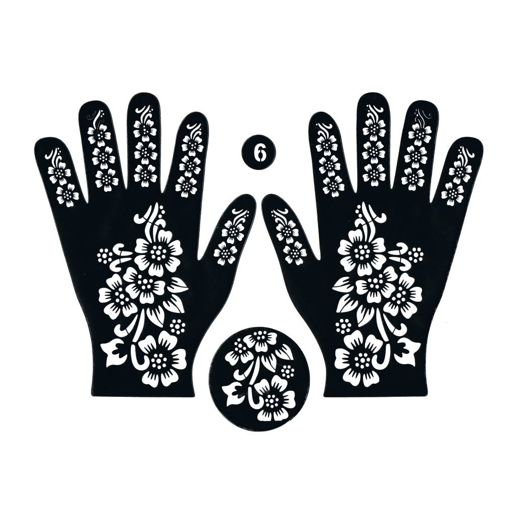 arabian style living room decoration ideas henna stencil tattoo self-adhesive hand 61 - oriental-style