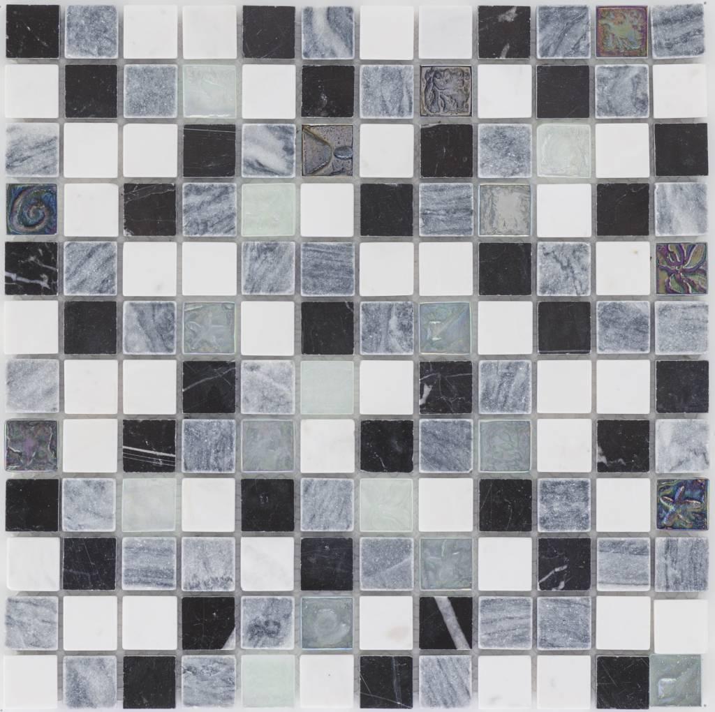 Mosaik Fliesen Schwarz Weiß Badezimmer In Schwarz Weiß Mit