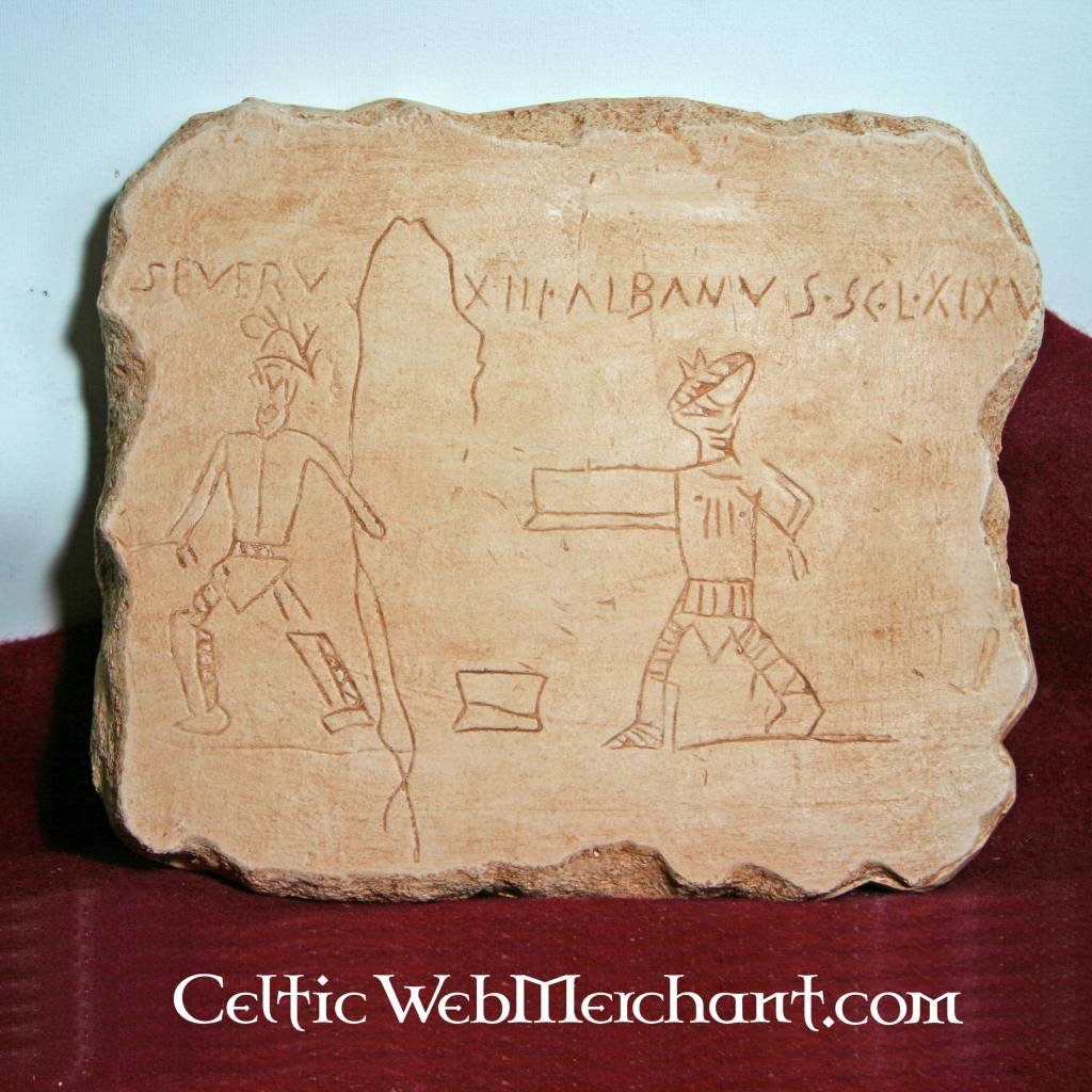Graffiti gladiador Pompeya  CelticWebMerchantcom
