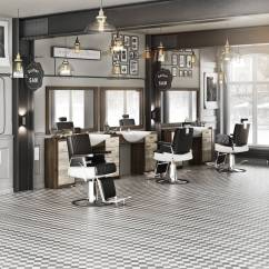 Resin Table And Chairs Set High Chair Deals Panda Men's Hair Salon Barber Retro - Chair, Dressing Kappers ...