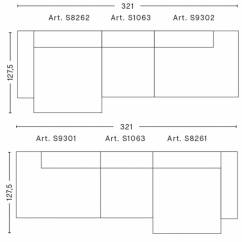 Hay Sofa Mags Leder Mini Sectional Leather Soft | 3-sitzer Kombination 3 - Workbrands