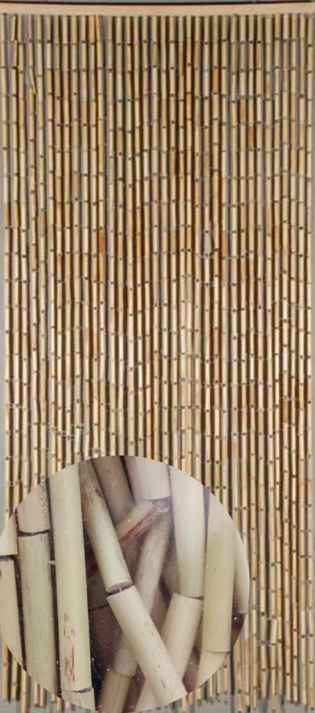 Vliegengordijn Bamboe 90 x 200 cm Natural Sorgho  Megatipbe