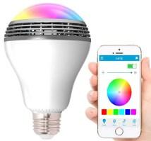 Geeek LED Lampe mit Bluetooth Lautsprecher RGBW Playbulb ...