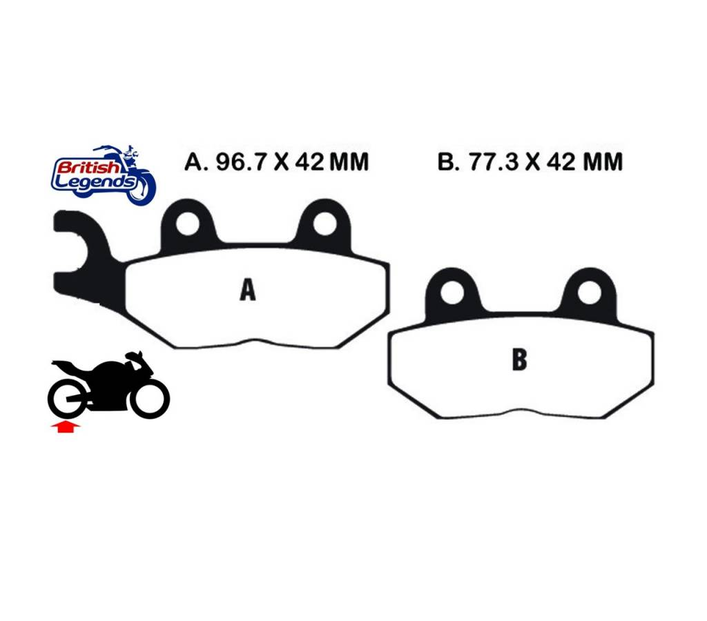 Ferodo Eco-Friction Brake Pads for Triumph Thruxton