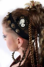 skull cameo hair jewelry steampunk