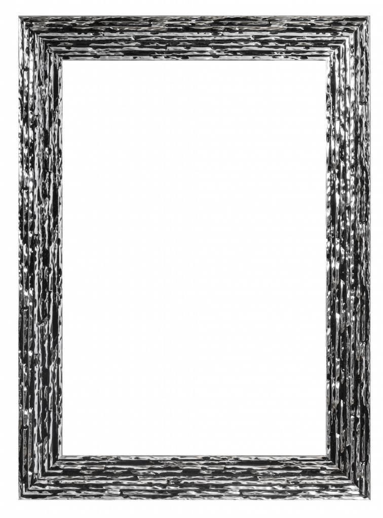 Toscane  Bilderrahmen Schwarz mit Silber   KunstSpiegelde