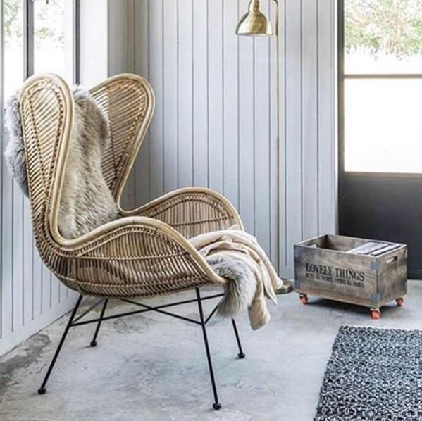 Natural rattan egg armchair  HK Living  Petite Lily