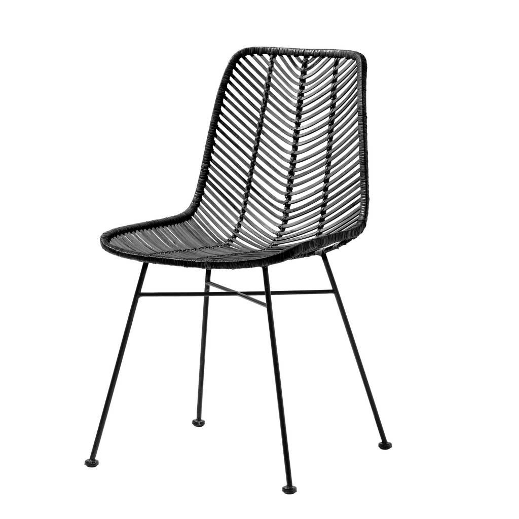 Bloomingville Lena Black Rattan Chair