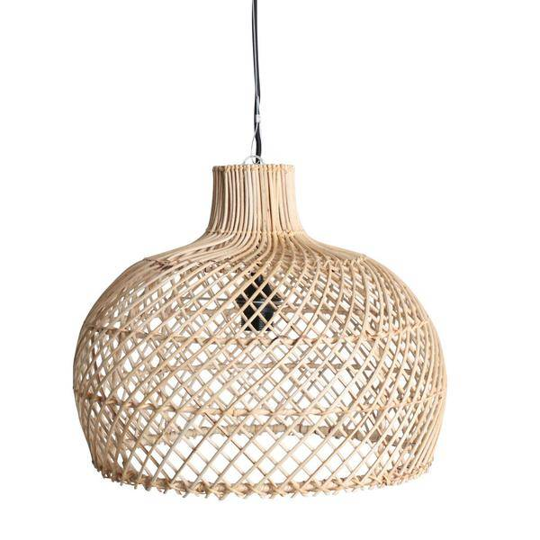 Oneworld Interiors Rattan pendant lamp  naturel  39cm