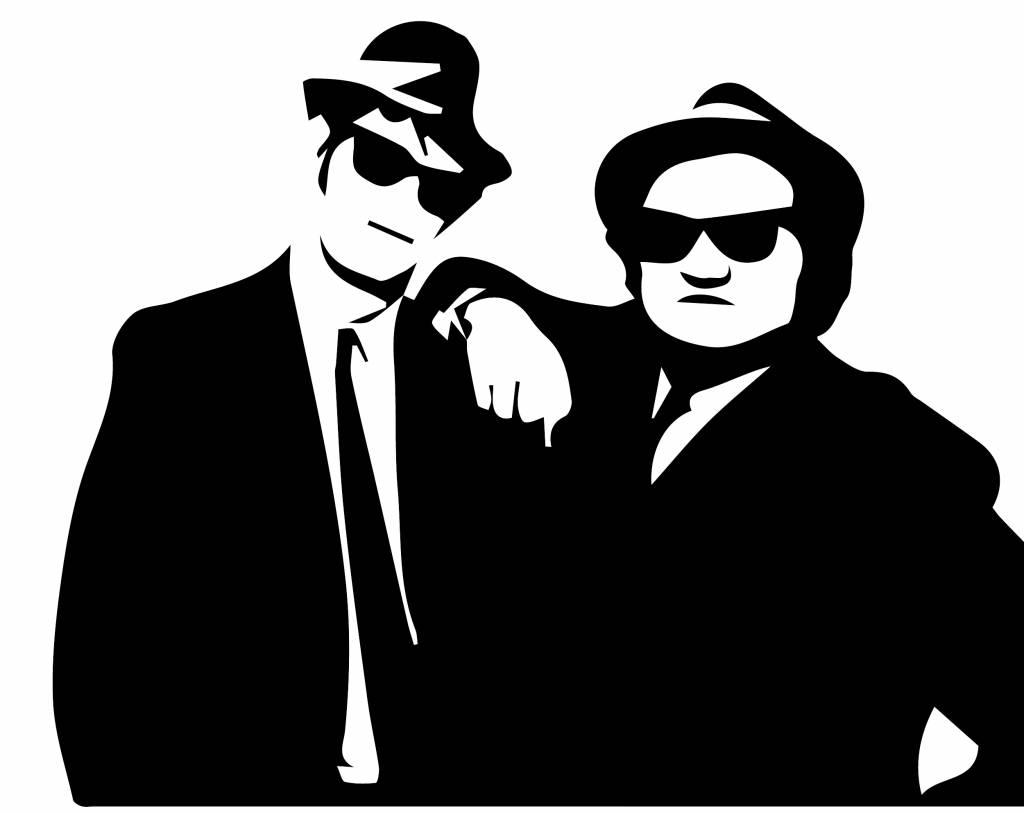 Muursticker blues brothers  Muursticker4sale