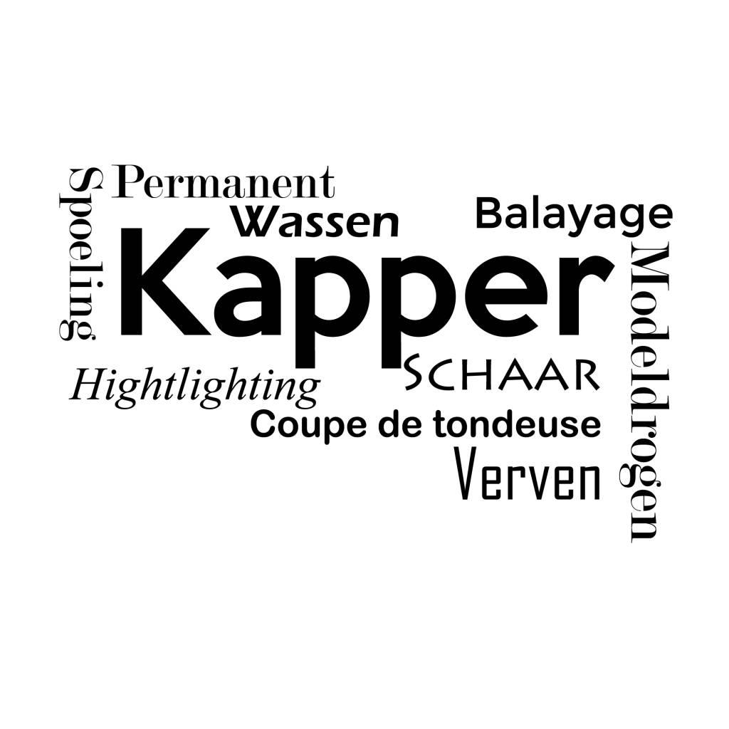 Muursticker Kapper  Muursticker4sale