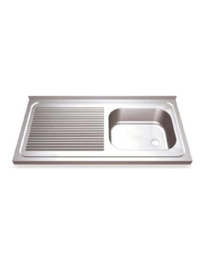 kitchen sinks with drain boards lights for over sink board on the left and sliding doors inox rvs food industry