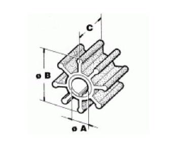 Johnson Evinrude IMPELLER 4, 4.5, 5, 6, 7.5, 8 pk (0389576