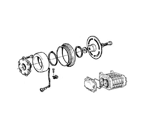 Volvo Compressor Clutch D4-260, KAD32P-A, KAD43P-A, KAD42