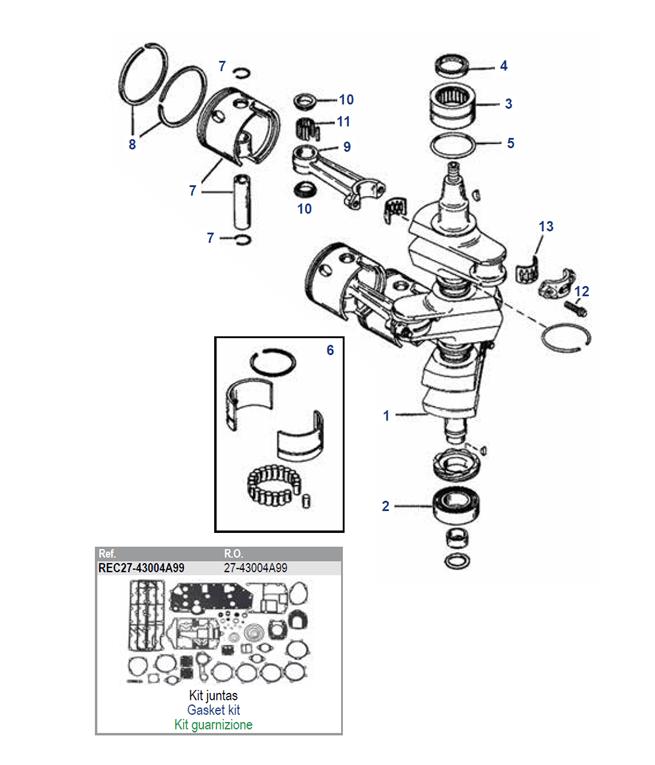 Mercury 75 tot 90 pk krukas parts Voordelig bestellen bij