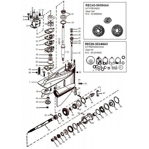 Mercruiser Sterndive-Transom-Staart kapot? Bestel bij