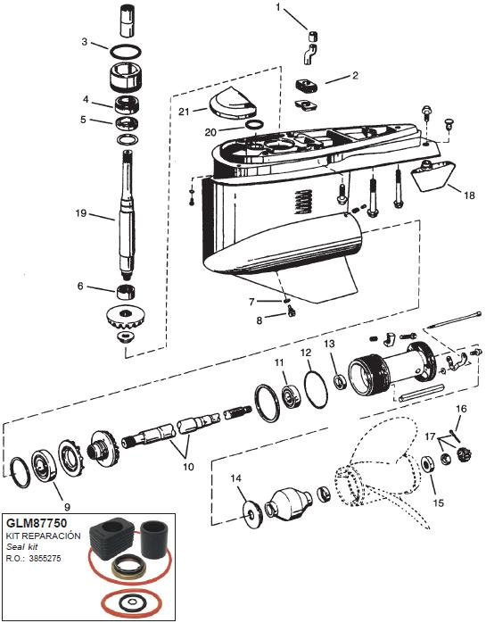 OMC staarstuk onderdelen Cobra Voordelig besteld bij