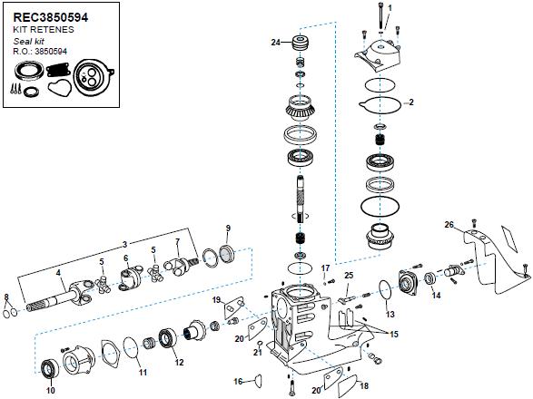 Volvo Penta SX aandrijf as onderdelen Eenvoudig bestel