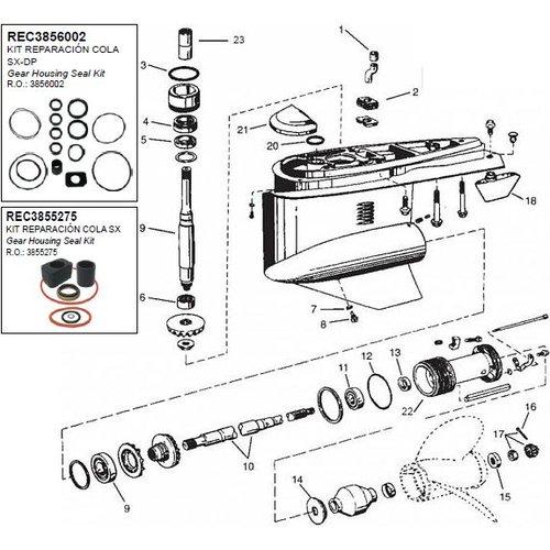 Volvo Penta staart stuk? sterndrive onderdelen nodig