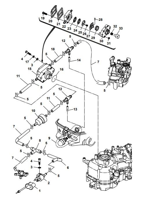 Alle Parsun 5/6 pk fuel system parts op voorraad bij