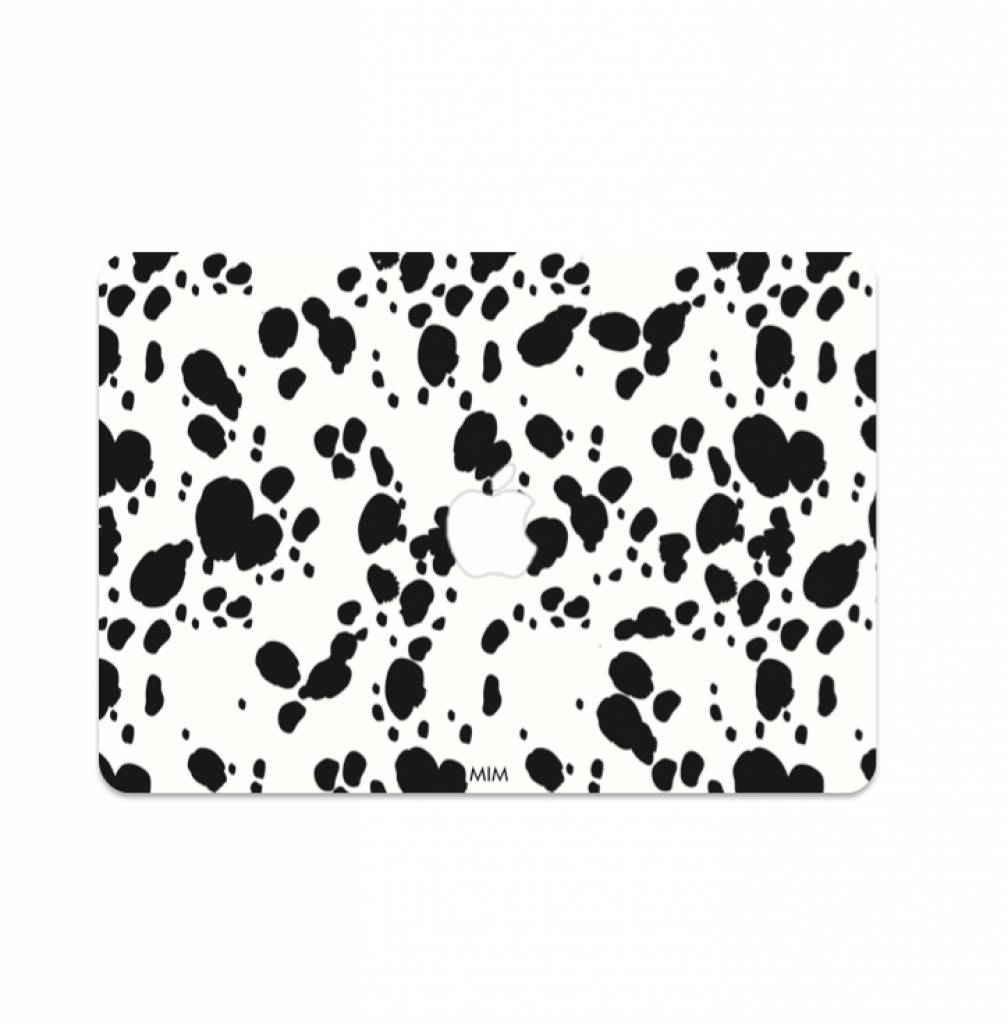 laptop sticker dalmatier zwart wit stippen print voor