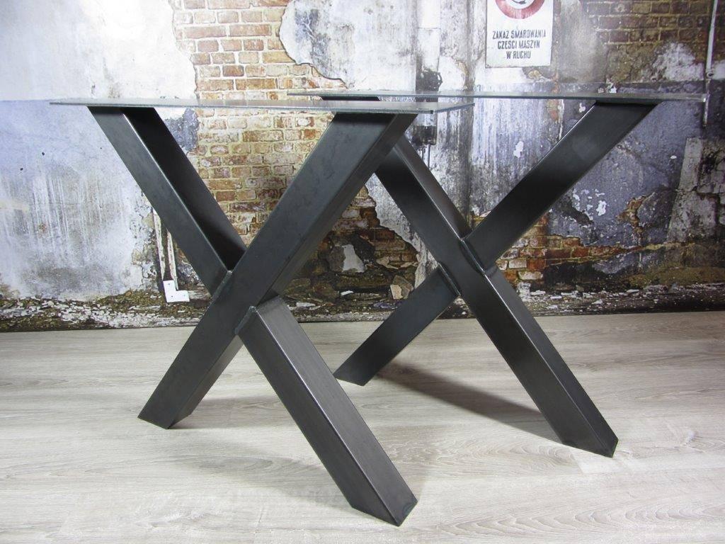 Handgemaakte industriele tafelpoten model X  Industriele