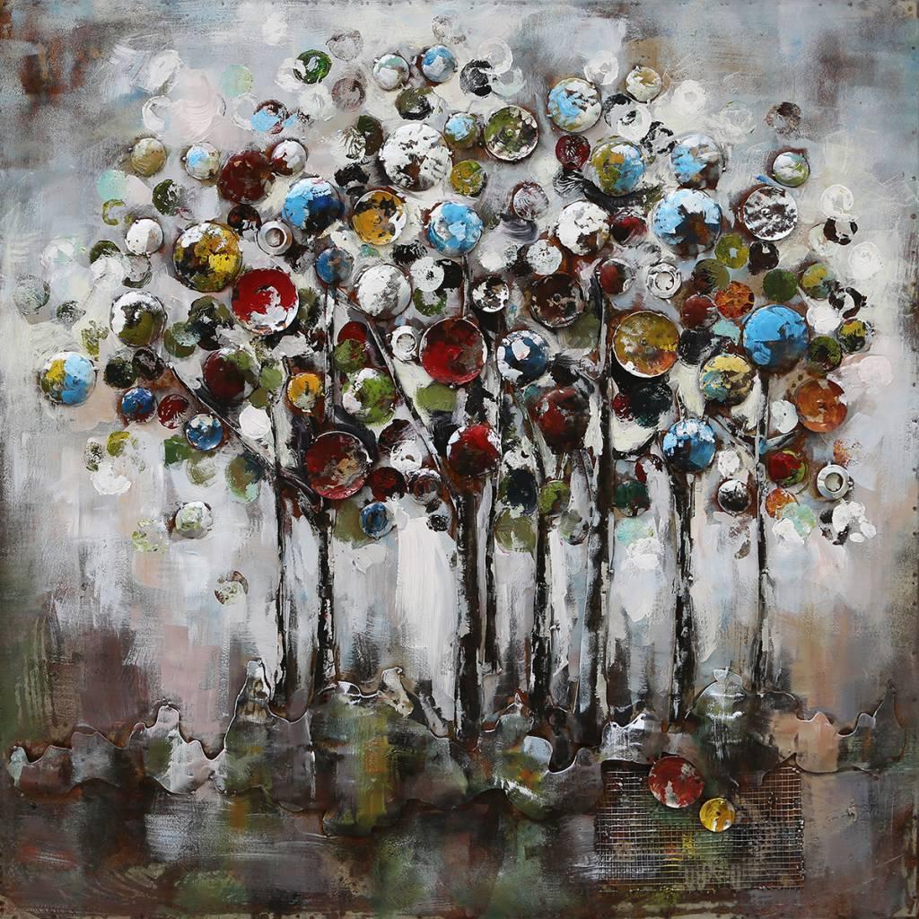 3d schilderij 100x100cm Fantasie bomen  Eliassen Home
