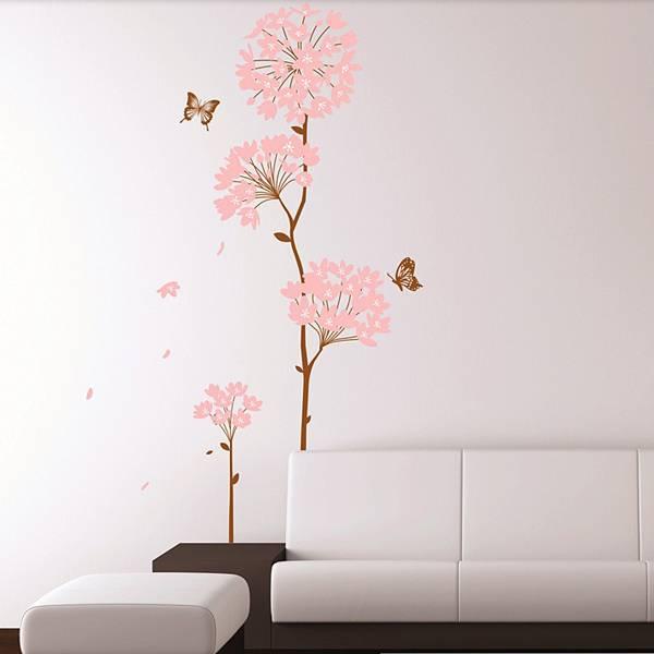Muursticker Roze Bloemen online kopen I MyXLshop