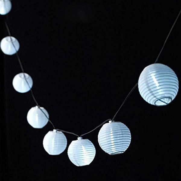 LED Snoer met 10 Papieren Lampionnen kopen I MyXLshop Tip