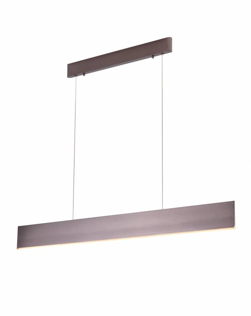 Hanglamp boven eettafel LED strak bruin wit zwart 26W
