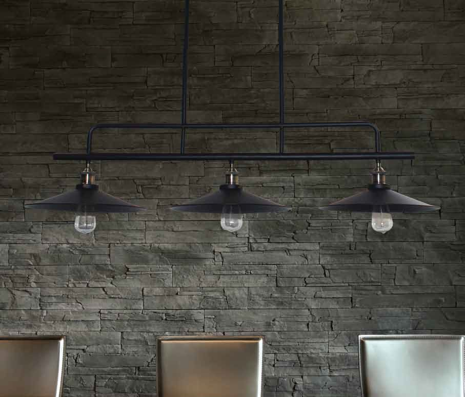 Hanglamp industrieel zwart eetkamer 1200mm E27x3  Myplanetled