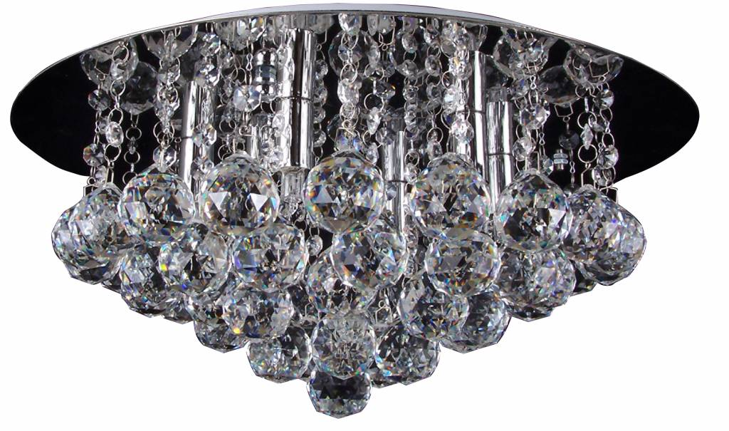 Plafondlamp kristal chroom LED G9x6 450mm   Myplanetled
