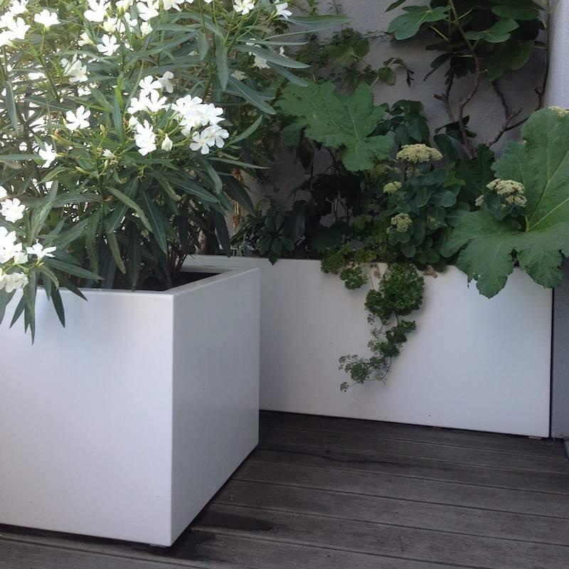 FLORIDA aluminium 40x40x80 cm plantenbak  Tuinvoordeeleu