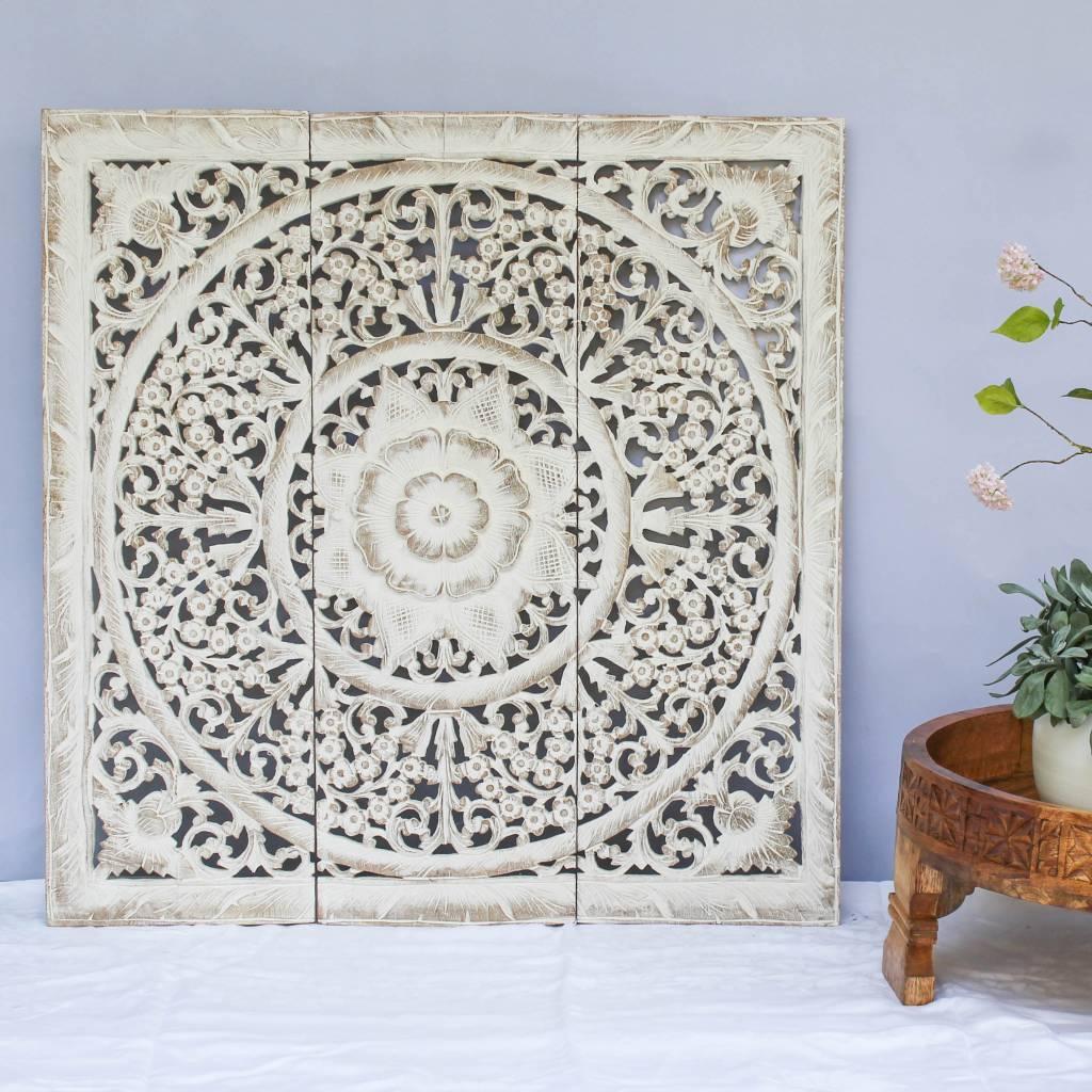 Wandpaneel Design LOTO authentiek houtsnijwerk  Simply