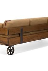 Sofa im Industrie Design auf Rdern  Massivholzmbel bei moebelshop68de