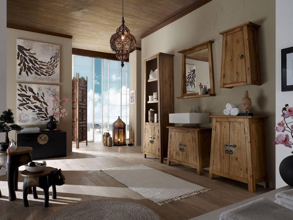Badmbel Set im reto Look aus Alt Holz  Massivholzmbel bei moebelshop68de