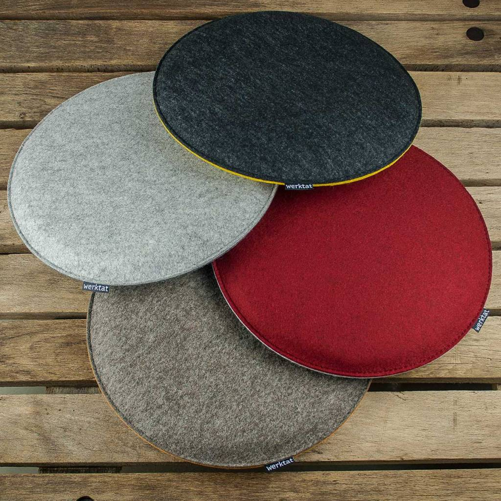 Felt Chair Pads Felt Seat Cushions Padded Round Chair Cushions Bench Cousions Stuffed Upholstered 30cm 32 5cm 35cm 37 5cm 40cm
