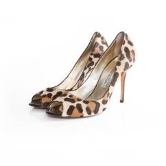 Cheetah Print Heel Chair Travel High Canada Reviews Luciano Padovan Leopard Pony Skin