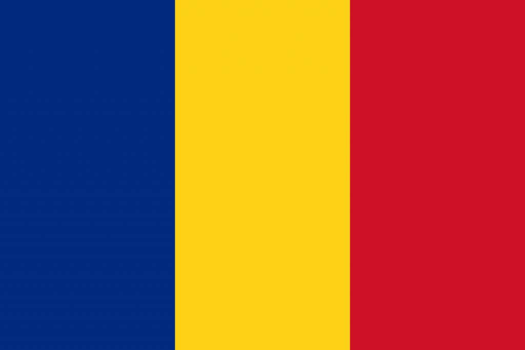 Romania Flag Coloring Country Flags