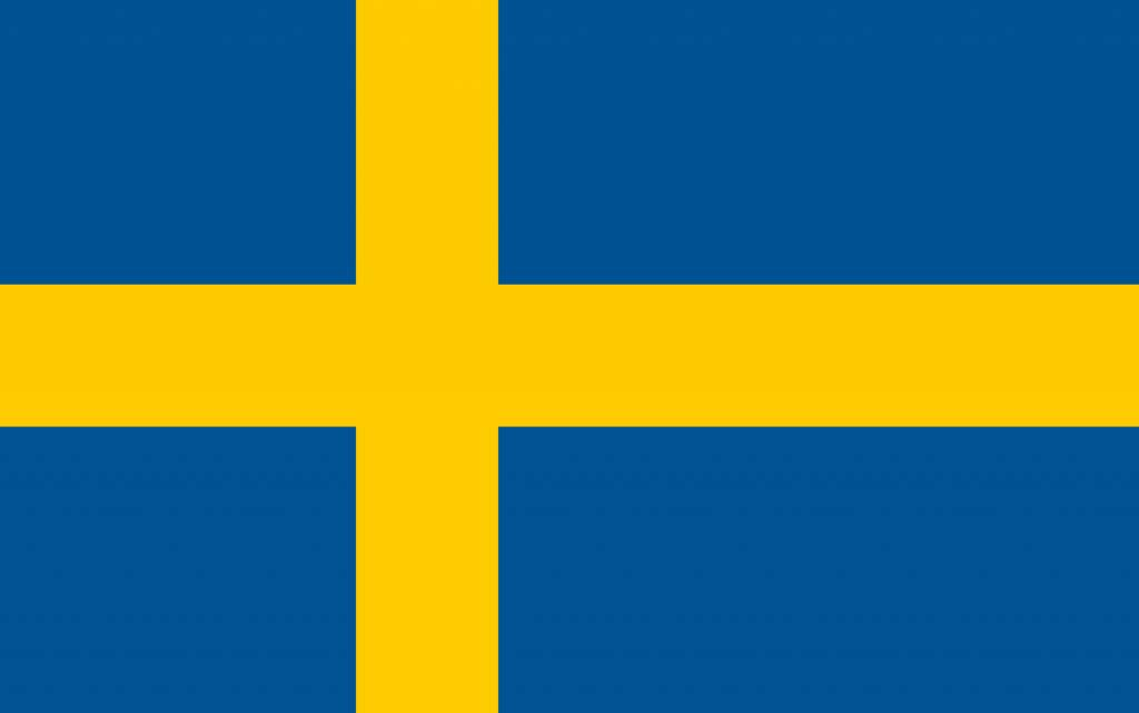 Sweden Flag Coloring Country Flags