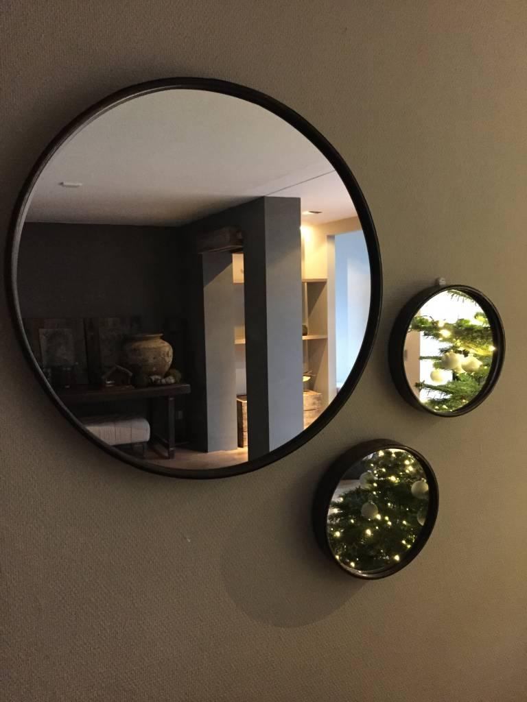 Spiegel rond groot  Stoer en Robuust Wonen