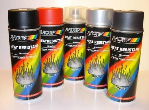 Motip Heat Resistant Paint Multiple Colors