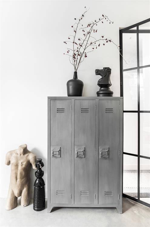 HK Living Locker kast  Wit  Puur Basic Interieur