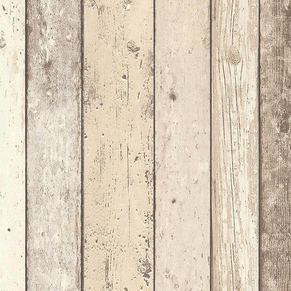 Behang Steigerhout Motief.Steigerhout Behang Grijs