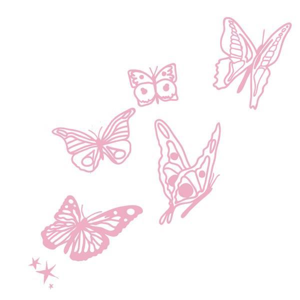 Mimilou Mimilou muursticker vlinders roze  Kidzsupplies