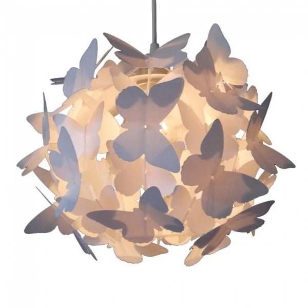 Hanglamp vlinders wit inclusief snoerpendel  Kidzsupplies