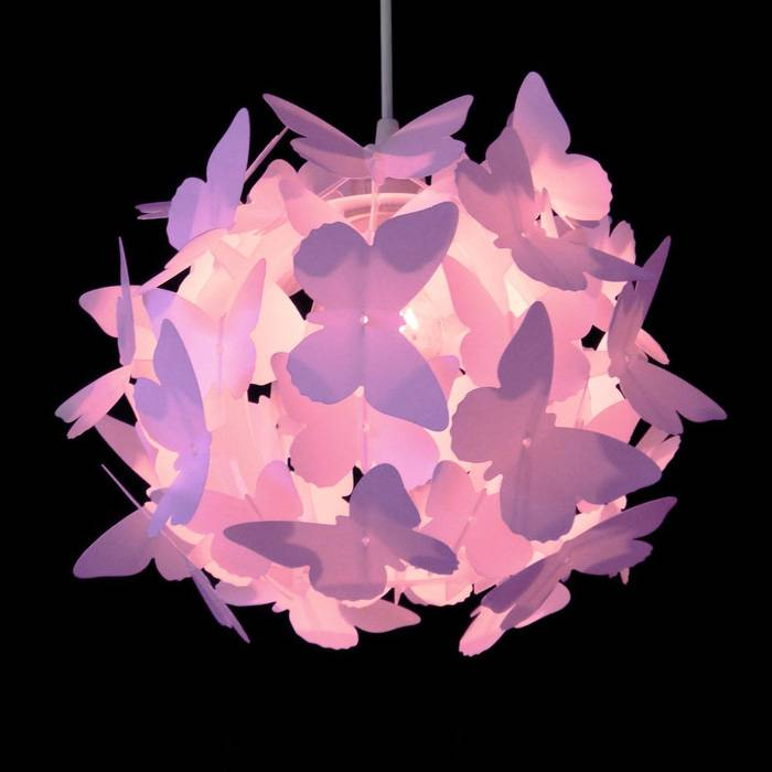 Kinderlamp vlinders rond roze  Kidzsupplies